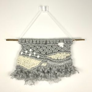 Cloudy Day Macrame Woven Wall Hanging